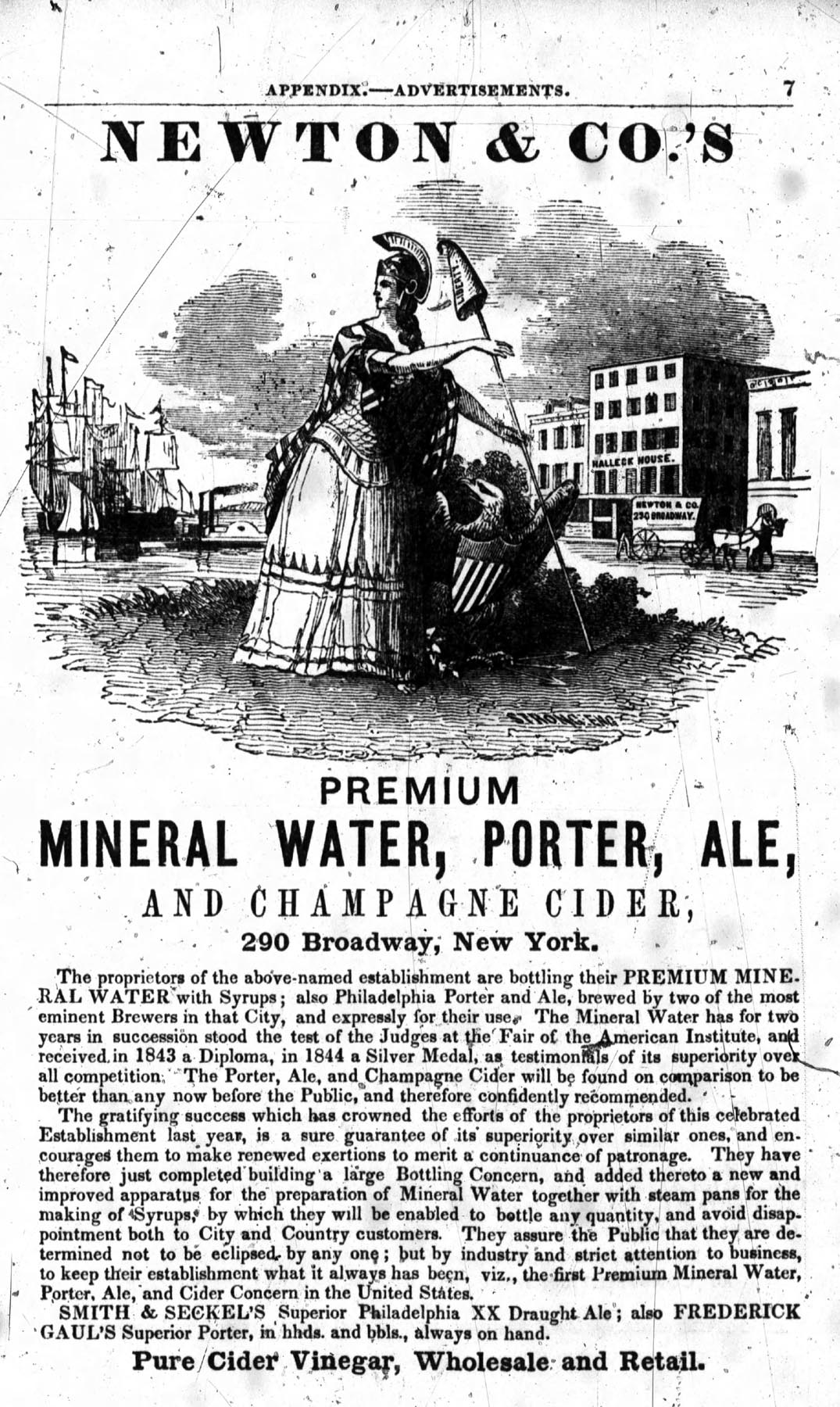 Newton & Co. 1846 Ad